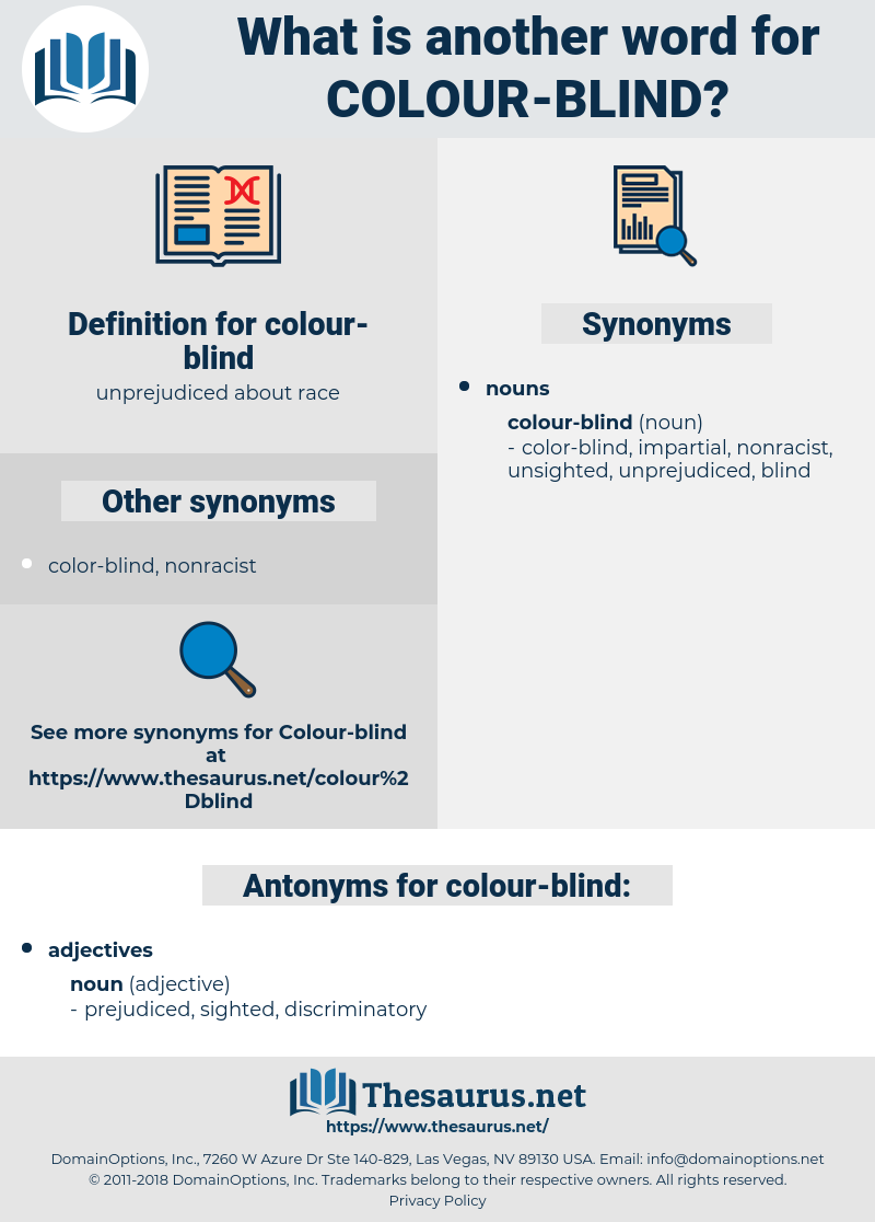 colour-blind, synonym colour-blind, another word for colour-blind, words like colour-blind, thesaurus colour-blind