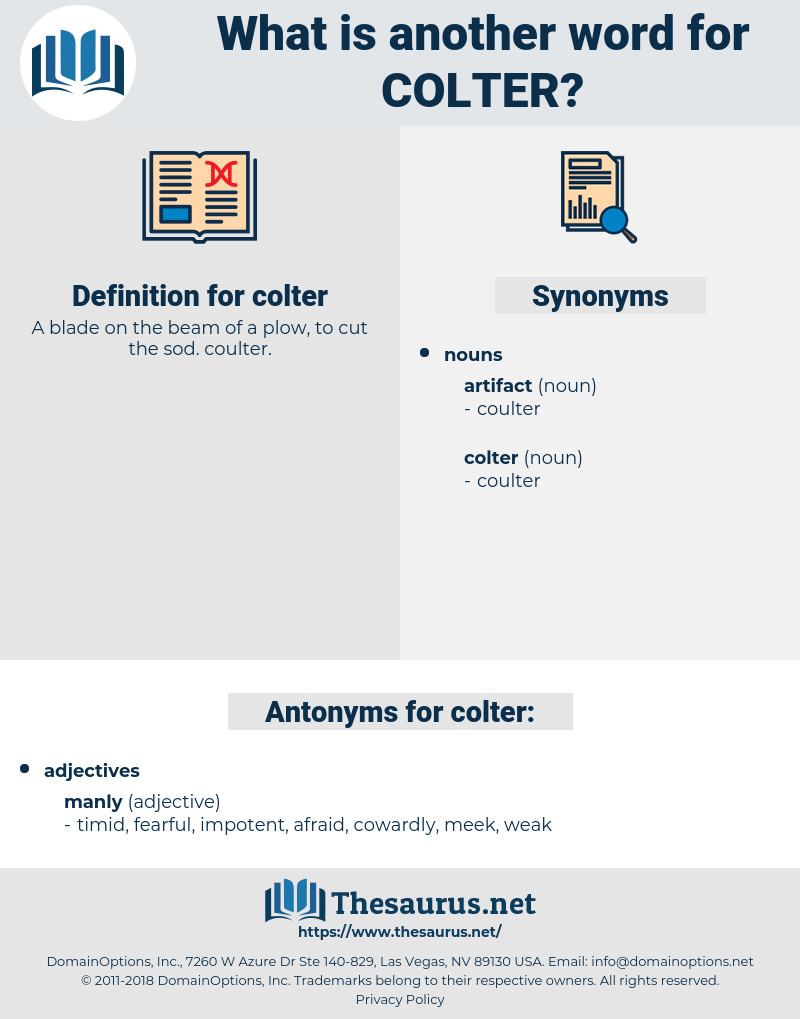 colter, synonym colter, another word for colter, words like colter, thesaurus colter