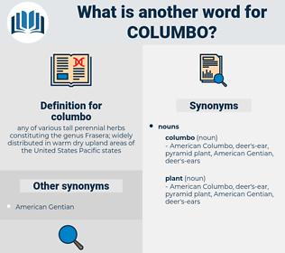 columbo, synonym columbo, another word for columbo, words like columbo, thesaurus columbo