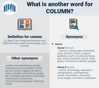 column, synonym column, another word for column, words like column, thesaurus column