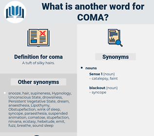 coma, synonym coma, another word for coma, words like coma, thesaurus coma