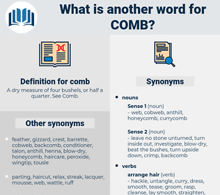 comb, synonym comb, another word for comb, words like comb, thesaurus comb