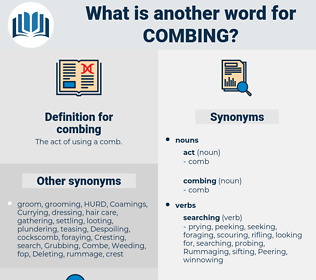 combing, synonym combing, another word for combing, words like combing, thesaurus combing