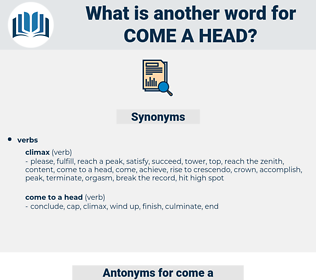 come a head, synonym come a head, another word for come a head, words like come a head, thesaurus come a head
