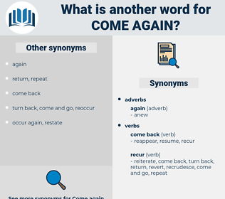 come again, synonym come again, another word for come again, words like come again, thesaurus come again