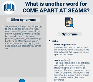 come apart at seams, synonym come apart at seams, another word for come apart at seams, words like come apart at seams, thesaurus come apart at seams