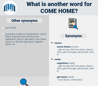 come home, synonym come home, another word for come home, words like come home, thesaurus come home