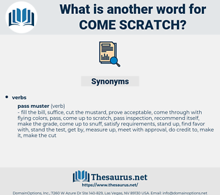 come scratch, synonym come scratch, another word for come scratch, words like come scratch, thesaurus come scratch