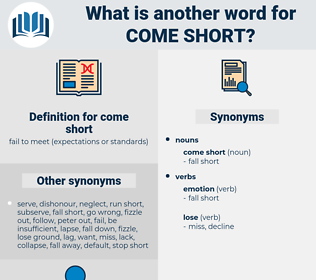 come short, synonym come short, another word for come short, words like come short, thesaurus come short