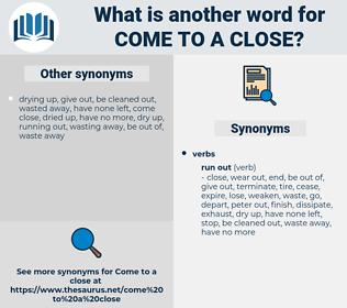come to a close, synonym come to a close, another word for come to a close, words like come to a close, thesaurus come to a close