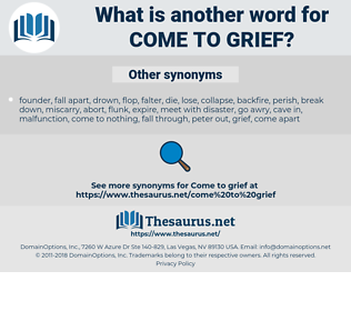 come to grief, synonym come to grief, another word for come to grief, words like come to grief, thesaurus come to grief