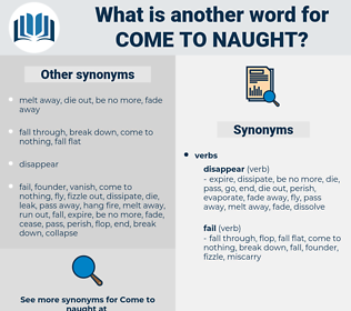 come to naught, synonym come to naught, another word for come to naught, words like come to naught, thesaurus come to naught