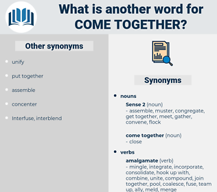 come together, synonym come together, another word for come together, words like come together, thesaurus come together