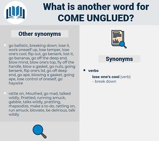 come unglued, synonym come unglued, another word for come unglued, words like come unglued, thesaurus come unglued