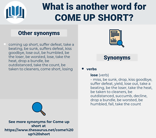 come up short, synonym come up short, another word for come up short, words like come up short, thesaurus come up short