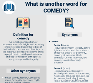 comedy, synonym comedy, another word for comedy, words like comedy, thesaurus comedy