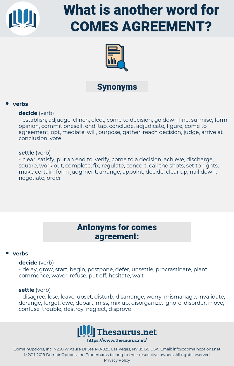 comes agreement, synonym comes agreement, another word for comes agreement, words like comes agreement, thesaurus comes agreement