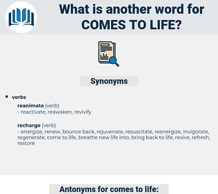 comes to life, synonym comes to life, another word for comes to life, words like comes to life, thesaurus comes to life