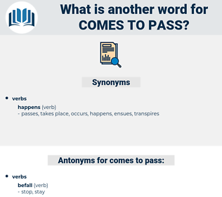comes to pass, synonym comes to pass, another word for comes to pass, words like comes to pass, thesaurus comes to pass