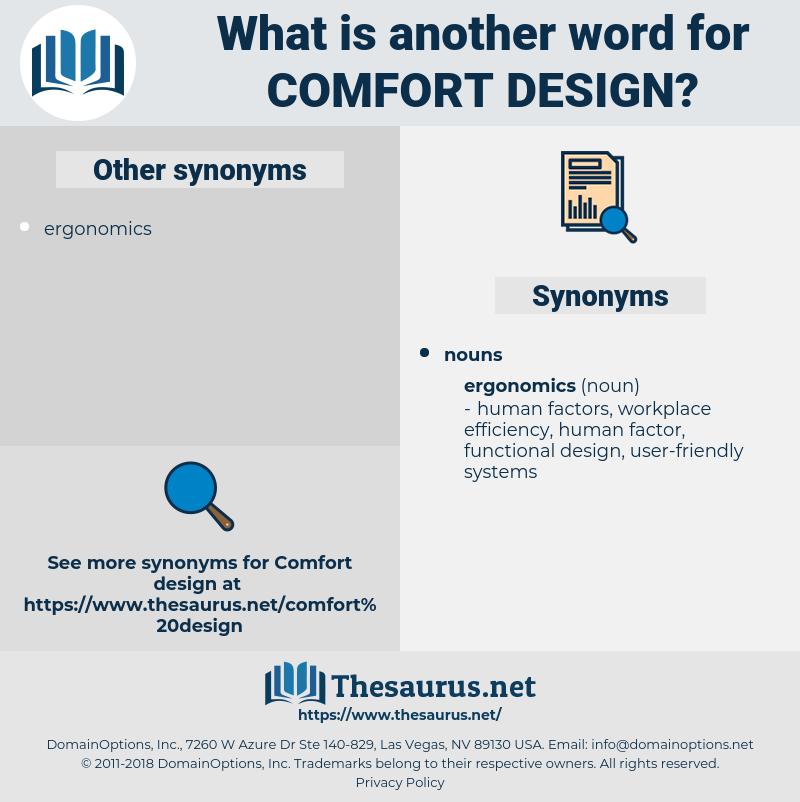 comfort design, synonym comfort design, another word for comfort design, words like comfort design, thesaurus comfort design
