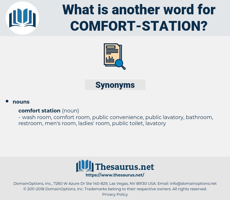 comfort station, synonym comfort station, another word for comfort station, words like comfort station, thesaurus comfort station