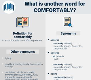 comfortably, synonym comfortably, another word for comfortably, words like comfortably, thesaurus comfortably