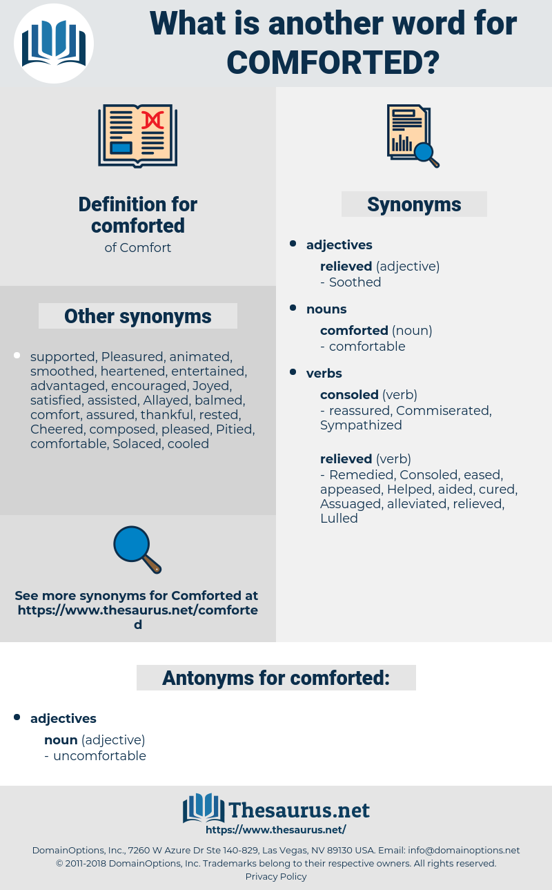 comforted, synonym comforted, another word for comforted, words like comforted, thesaurus comforted