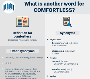 comfortless, synonym comfortless, another word for comfortless, words like comfortless, thesaurus comfortless