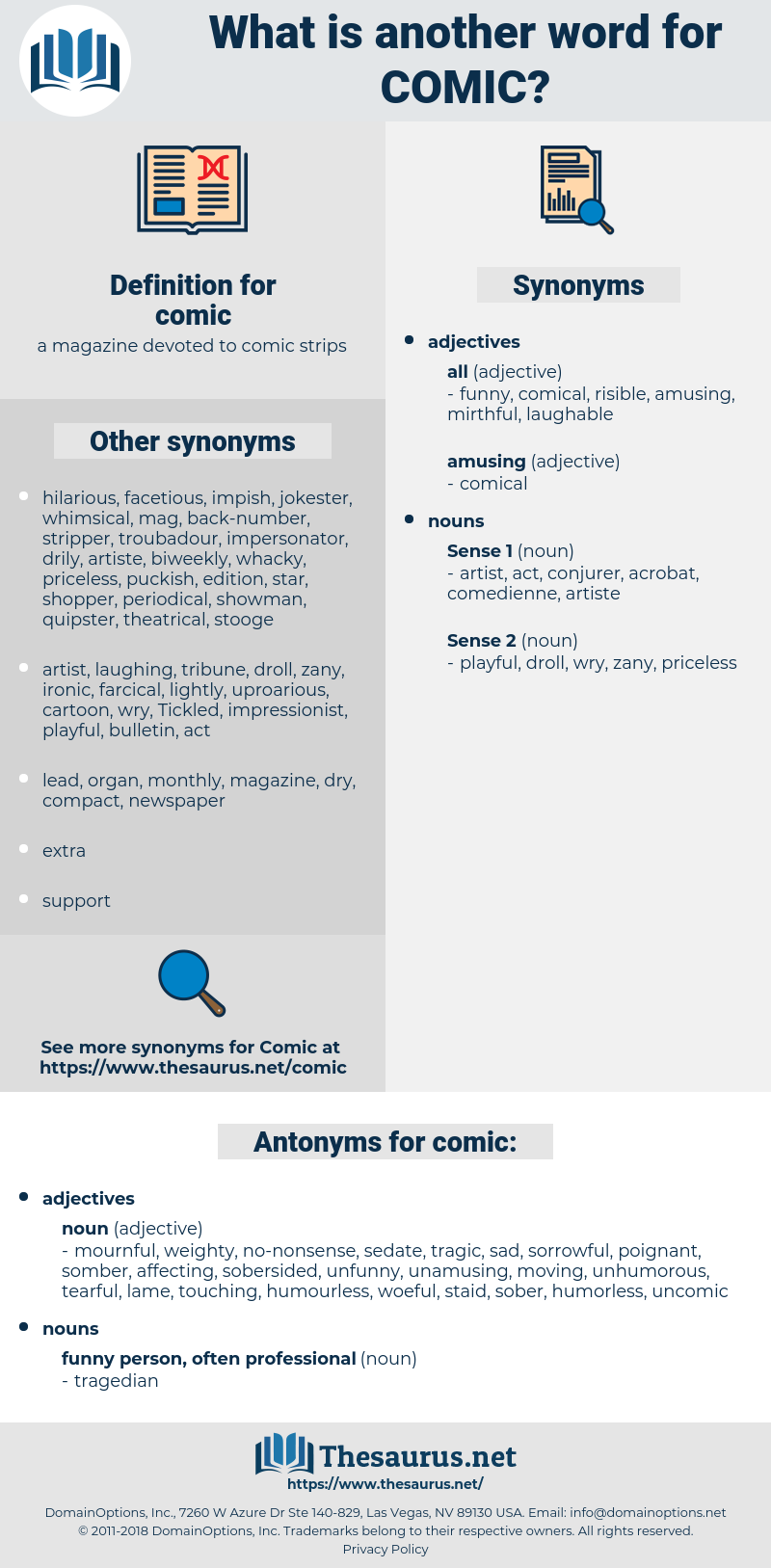 comic, synonym comic, another word for comic, words like comic, thesaurus comic