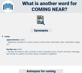 coming near, synonym coming near, another word for coming near, words like coming near, thesaurus coming near