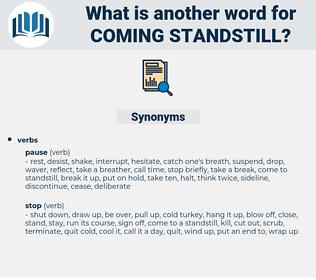 coming standstill, synonym coming standstill, another word for coming standstill, words like coming standstill, thesaurus coming standstill