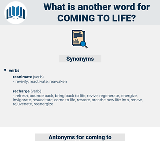 coming to life, synonym coming to life, another word for coming to life, words like coming to life, thesaurus coming to life