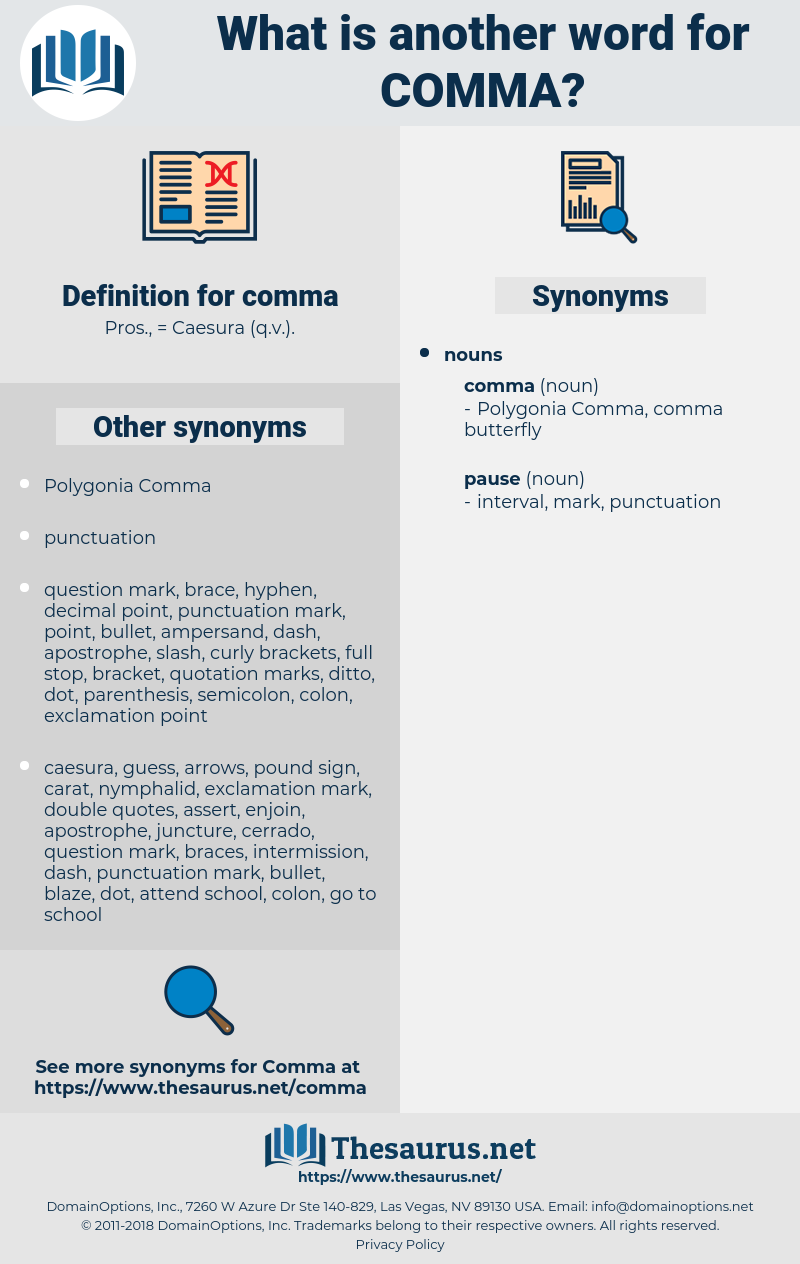 comma, synonym comma, another word for comma, words like comma, thesaurus comma