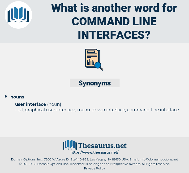 command-line interfaces, synonym command-line interfaces, another word for command-line interfaces, words like command-line interfaces, thesaurus command-line interfaces