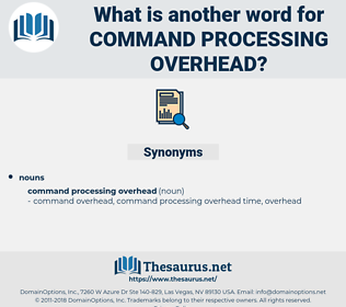 command processing overhead, synonym command processing overhead, another word for command processing overhead, words like command processing overhead, thesaurus command processing overhead