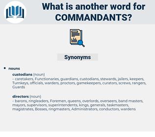 commandants, synonym commandants, another word for commandants, words like commandants, thesaurus commandants