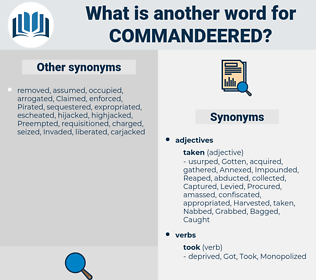 Commandeered, synonym Commandeered, another word for Commandeered, words like Commandeered, thesaurus Commandeered