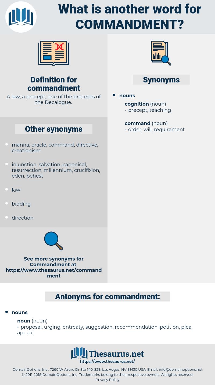 commandment, synonym commandment, another word for commandment, words like commandment, thesaurus commandment