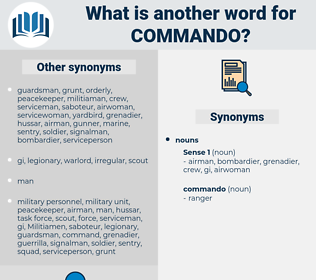 commando, synonym commando, another word for commando, words like commando, thesaurus commando