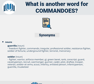 commandoes, synonym commandoes, another word for commandoes, words like commandoes, thesaurus commandoes