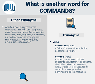 commands, synonym commands, another word for commands, words like commands, thesaurus commands
