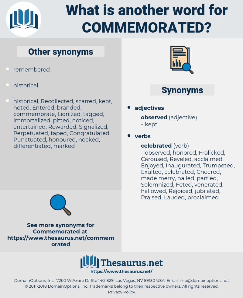 Commemorated, synonym Commemorated, another word for Commemorated, words like Commemorated, thesaurus Commemorated
