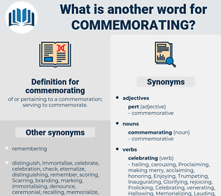 commemorating, synonym commemorating, another word for commemorating, words like commemorating, thesaurus commemorating