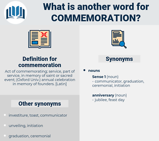 commemoration, synonym commemoration, another word for commemoration, words like commemoration, thesaurus commemoration