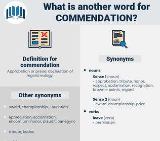 commendation, synonym commendation, another word for commendation, words like commendation, thesaurus commendation
