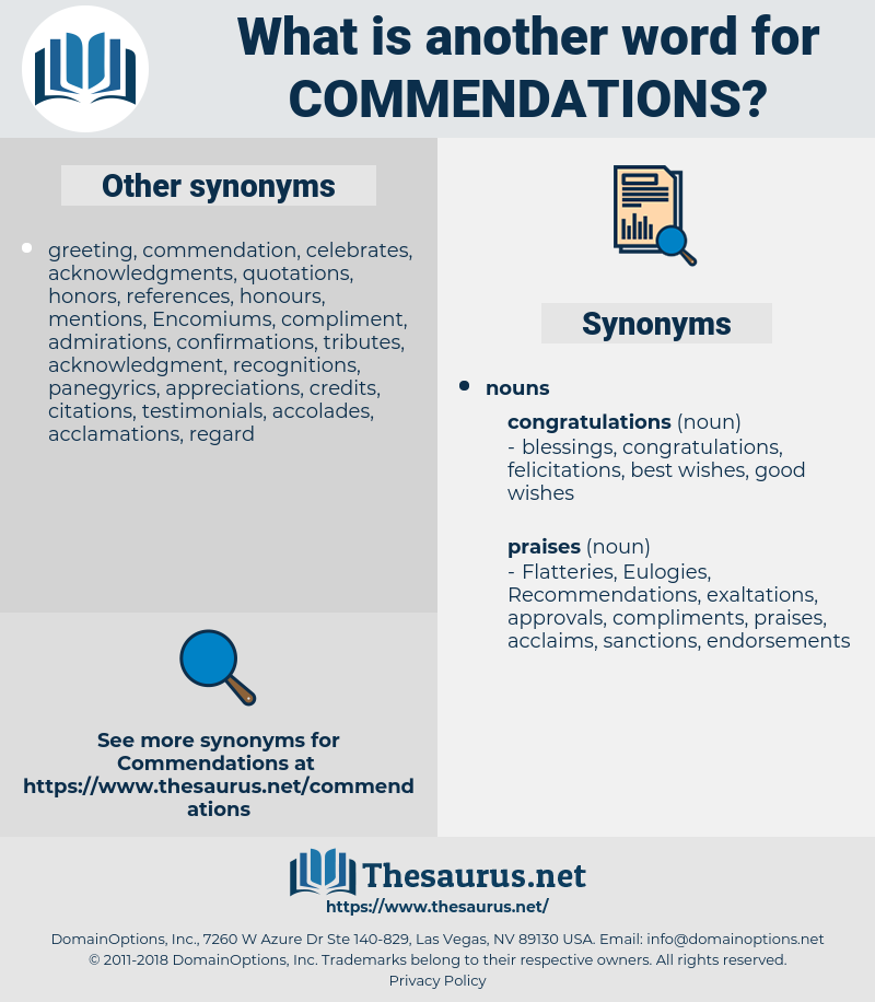 commendations, synonym commendations, another word for commendations, words like commendations, thesaurus commendations