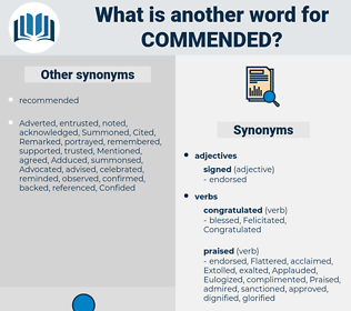 Commended, synonym Commended, another word for Commended, words like Commended, thesaurus Commended