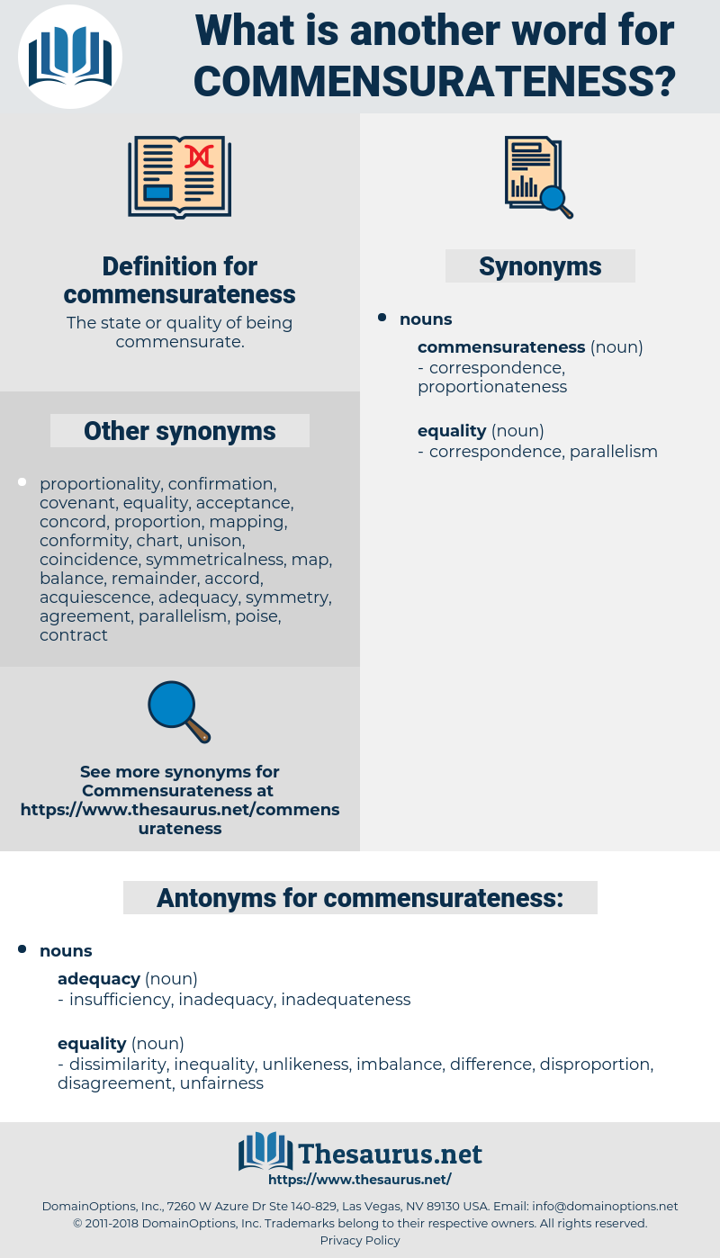 commensurateness, synonym commensurateness, another word for commensurateness, words like commensurateness, thesaurus commensurateness