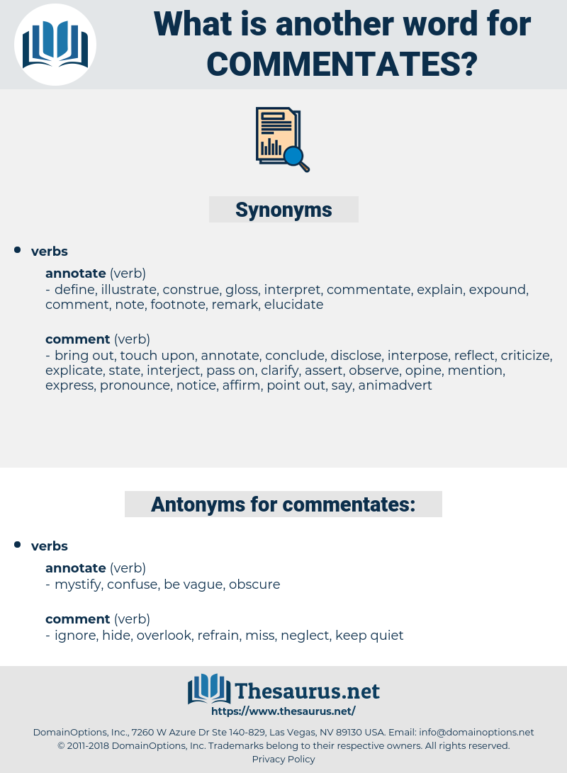 commentates, synonym commentates, another word for commentates, words like commentates, thesaurus commentates