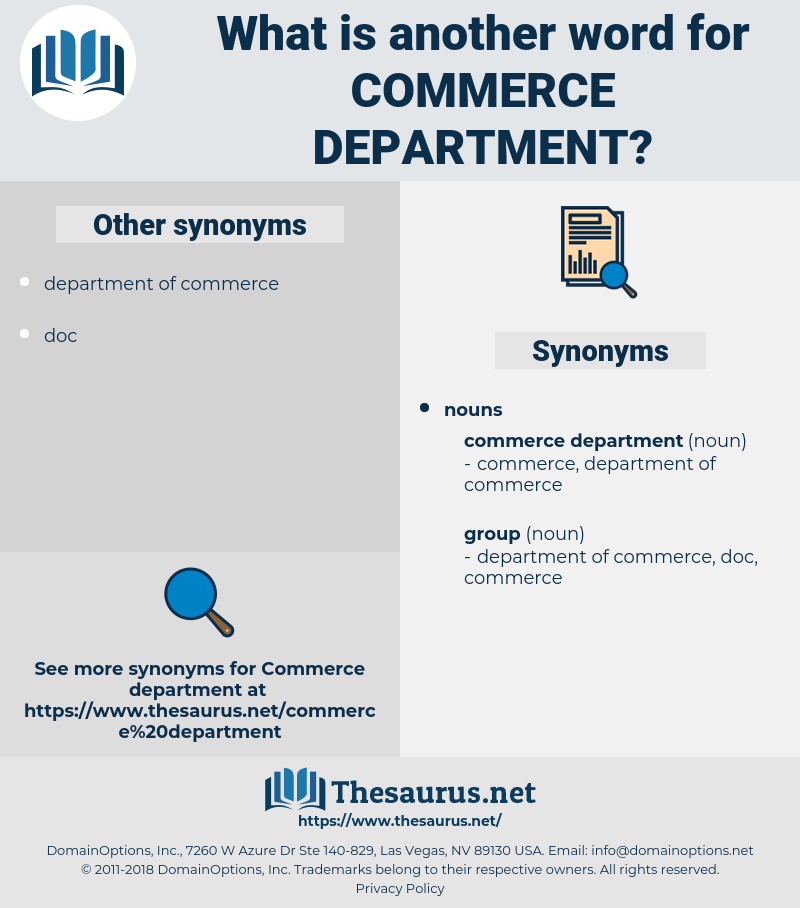 commerce department, synonym commerce department, another word for commerce department, words like commerce department, thesaurus commerce department